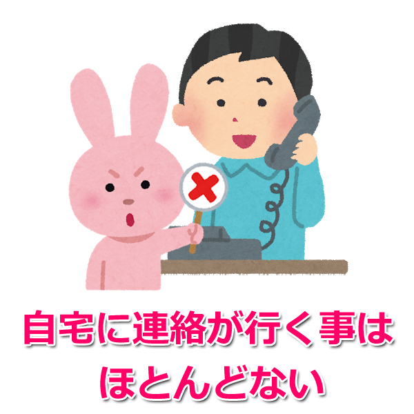 自宅への電話