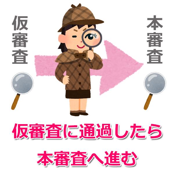 仮審査・本審査