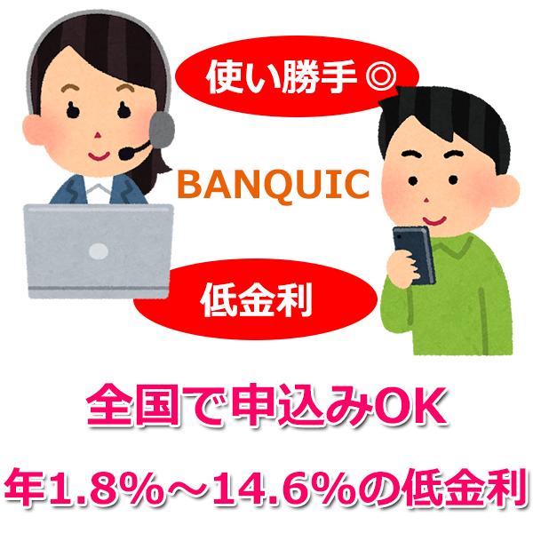 三菱UFJ銀行カードローン「バンクイック」で借りる