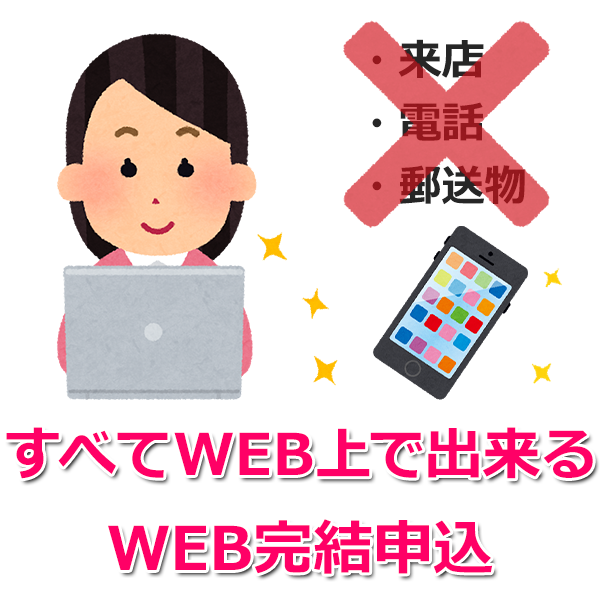 「WEB完結申込」