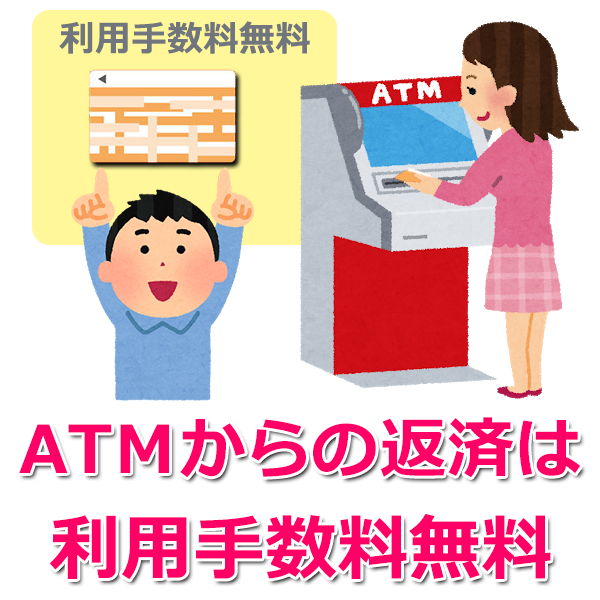ATMで返済