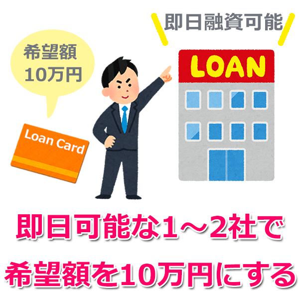 10万円借りる時のポイント