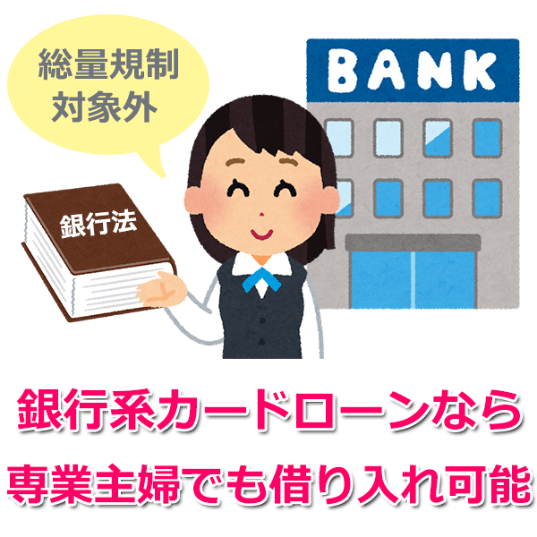 専業主婦が総量規制対象外のカードローンでお金を借りる