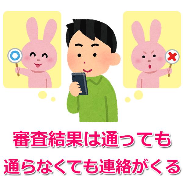 審査結果の電話連絡