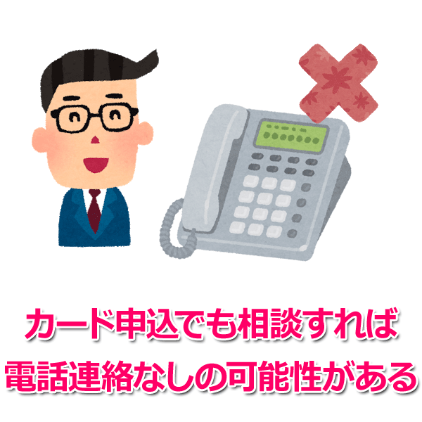 SMBCモビットの「カード申込」でも電話連絡なしにできる?