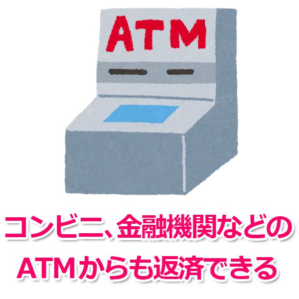 2.コンビニ・ショッピングセンター、提携金融機関CD・ATMでの返済