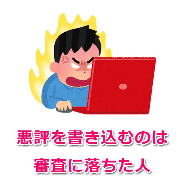 満足してない人だけがネット上に書き込みをする