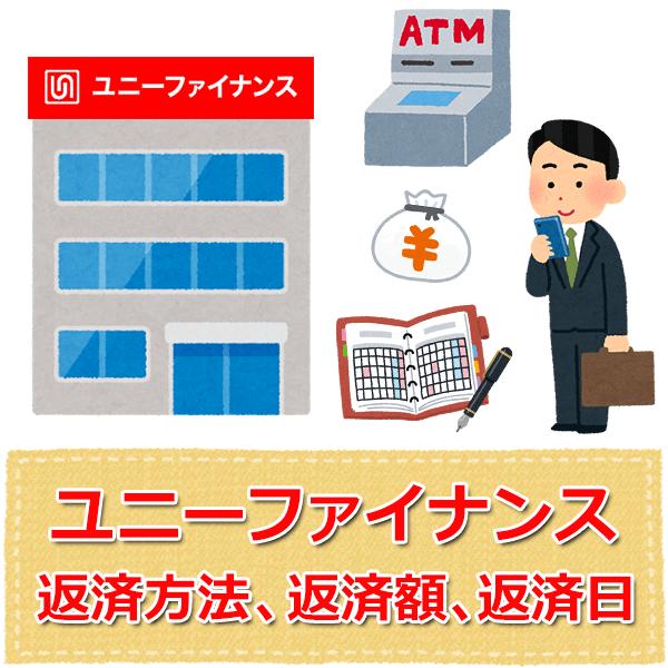 ユニーファイナンス【返済方法、返済額、返済日】