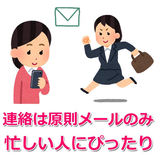 連絡は原則SMS
