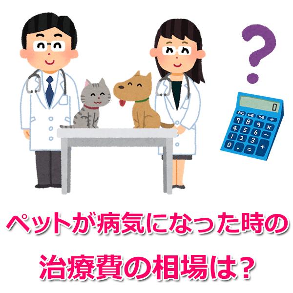 ペットの病気・怪我にかかるお金