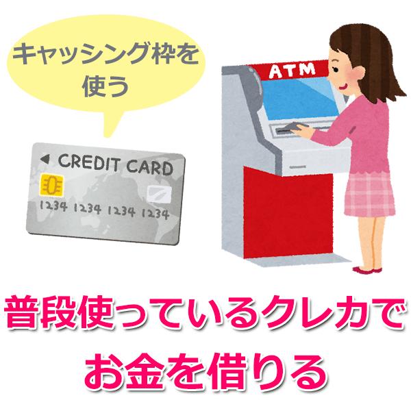 2.クレジットカードのキャッシング枠を利用